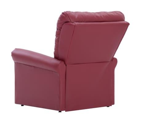 vidaXL Atlošiamas masažinis krėslas, tamsiai raudonas, dirbt. oda[5/14]