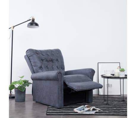 vidaXL Atlošiamas masaž. krėslas, pilkas, dirbt. versta oda[3/14]