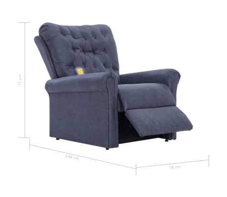 vidaXL Atlošiamas masaž. krėslas, pilkas, dirbt. versta oda[14/14]
