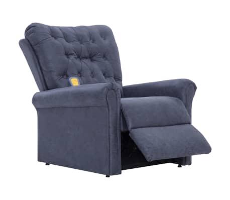 vidaXL Atlošiamas masaž. krėslas, pilkas, dirbt. versta oda[6/14]