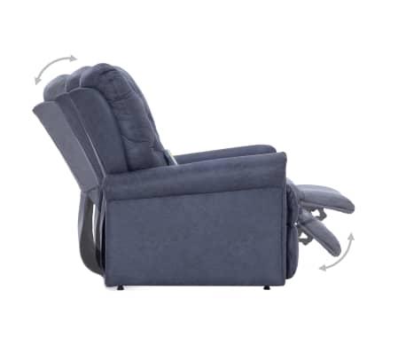 vidaXL Atlošiamas masaž. krėslas, pilkas, dirbt. versta oda[7/14]