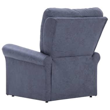 vidaXL Atlošiamas masaž. krėslas, pilkas, dirbt. versta oda[5/14]