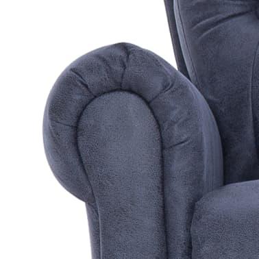 vidaXL Atlošiamas masaž. krėslas, pilkas, dirbt. versta oda[8/14]