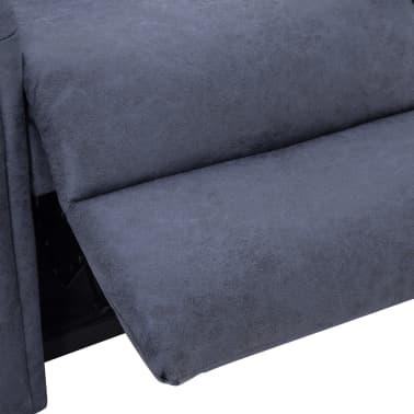vidaXL Atlošiamas masaž. krėslas, pilkas, dirbt. versta oda[9/14]
