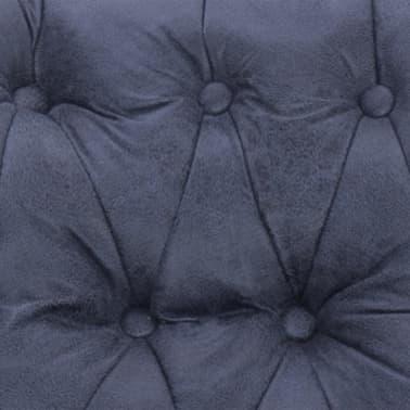 vidaXL Atlošiamas masaž. krėslas, pilkas, dirbt. versta oda[10/14]