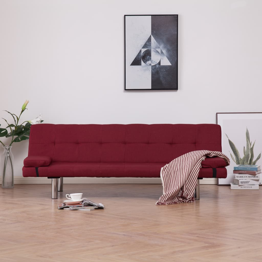 Canapé convertible Rouge Contemporain Confort