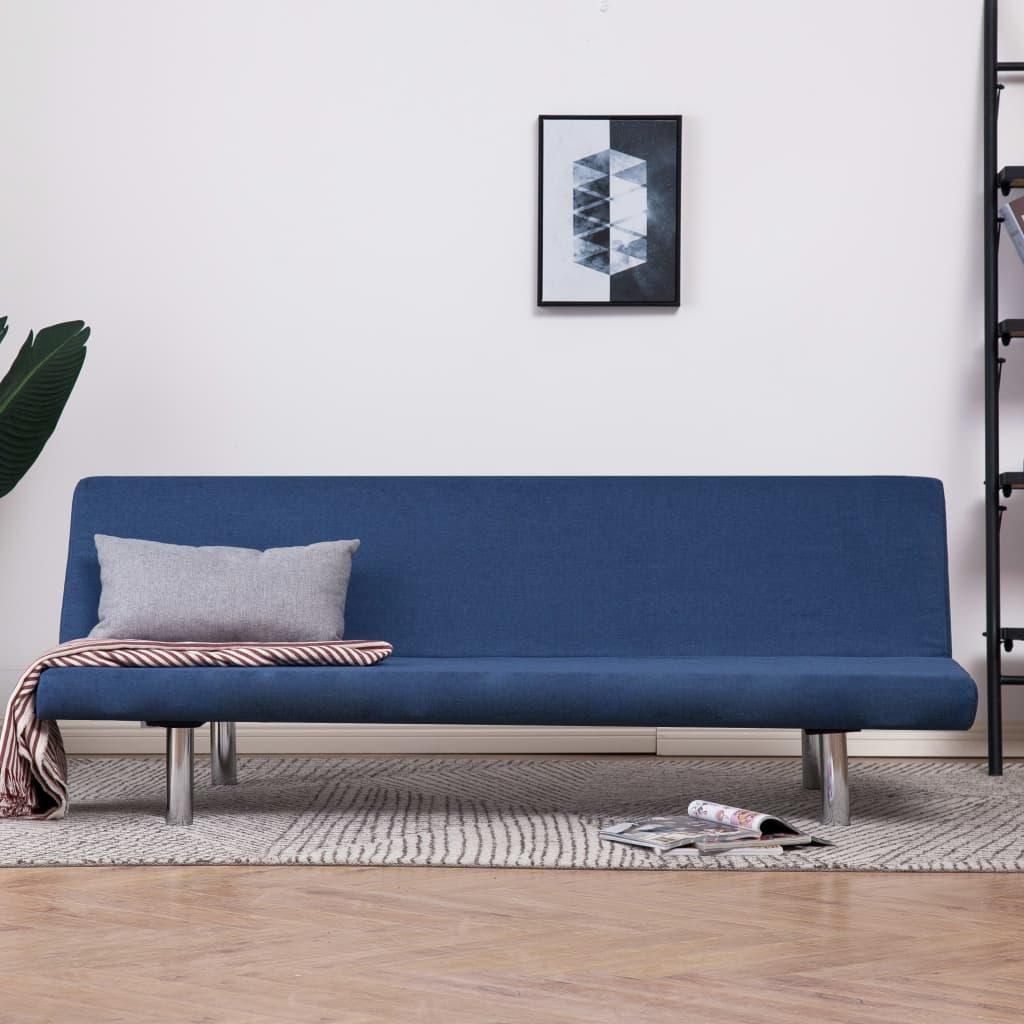 Rozkládací pohovka modrá polyester