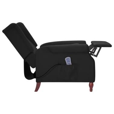 vidaXL Atlošiamas masažinis krėslas, juodos spalvos, audinys[5/13]