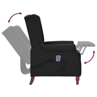 vidaXL Atlošiamas masažinis krėslas, juodos spalvos, audinys[6/13]