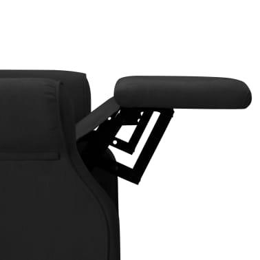 vidaXL Atlošiamas masažinis krėslas, juodos spalvos, audinys[7/13]