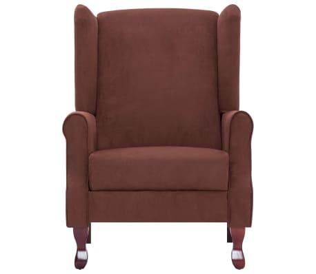 vidaXL Atlošiamas masažinis krėslas, rudos spalvos, audinys[7/13]