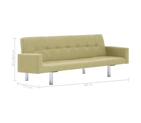 vidaXL Slaapbank met armleuning polyester groen[10/10]