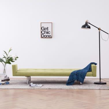 vidaXL Slaapbank met armleuning polyester groen[3/10]