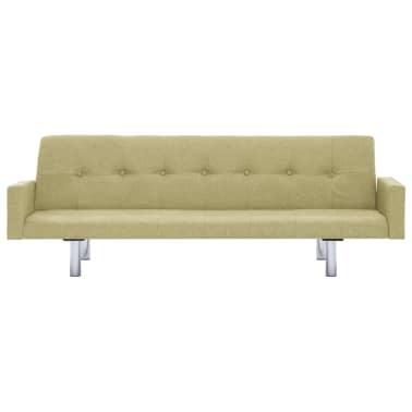 vidaXL Slaapbank met armleuning polyester groen[4/10]