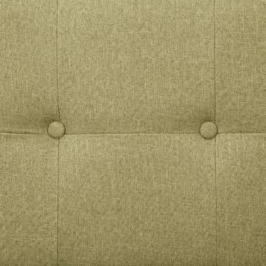 vidaXL Slaapbank met armleuning polyester groen[9/10]