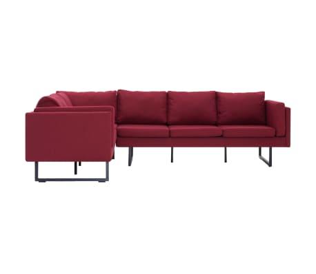 vidaXL Corner Sofa Red Fabric[3/8]
