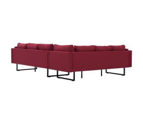 vidaXL Corner Sofa Red Fabric[5/8]