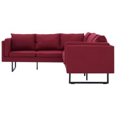 vidaXL Corner Sofa Red Fabric[4/8]