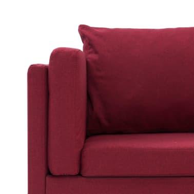 vidaXL Corner Sofa Red Fabric[6/8]