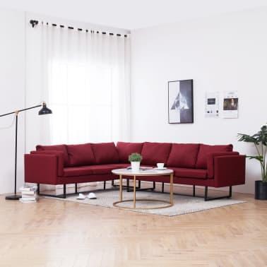 vidaXL Corner Sofa Red Fabric[1/8]