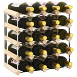 vidaXL Wine Rack for 20 Bottles Solid Pinewood