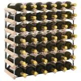 vidaXL Suport sticle de vin pentru 42 sticle, lemn masiv de pin
