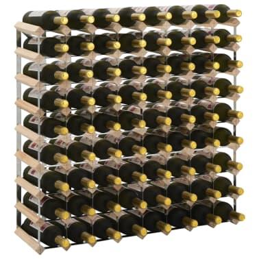 vidaXL Casier à bouteilles pour 72 bouteilles Pinède solide[1/5]