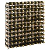 vidaXL Vinstativ for 120 flasker heltre furu