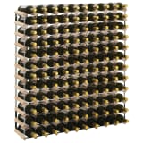 vidaXL Botellero para 120 botellas de madera maciza de pino