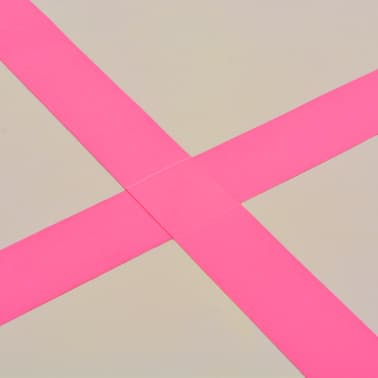 "vidaXL Inflatable Gymnastics Mat with Pump 118.1""x39.3""x3.9"" PVC Pink[11/14]"