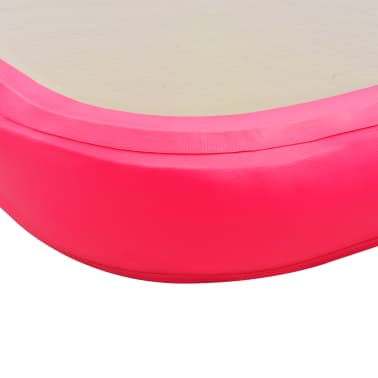 "vidaXL Inflatable Gymnastics Mat with Pump 118.1""x39.3""x3.9"" PVC Pink[10/14]"