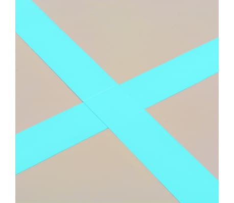 vidaXL Pripuč. gimnast. kilim. su pompa, žal. sp., 300x100x10cm, PVC[11/14]