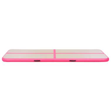 "vidaXL Inflatable Gymnastics Mat with Pump 157.4""x39.3""x3.9"" PVC Pink[6/14]"
