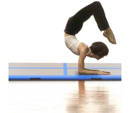 "vidaXL Inflatable Gymnastics Mat with Pump 157.4""x39.3""x3.9"" PVC Blue[2/14]"