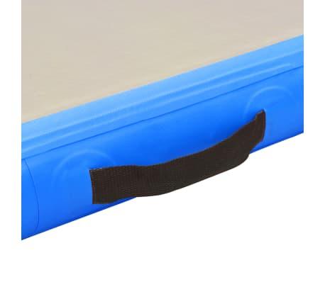 "vidaXL Inflatable Gymnastics Mat with Pump 157.4""x39.3""x3.9"" PVC Blue[9/14]"