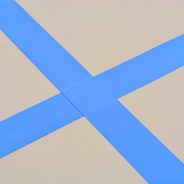 "vidaXL Inflatable Gymnastics Mat with Pump 157.4""x39.3""x3.9"" PVC Blue[11/14]"