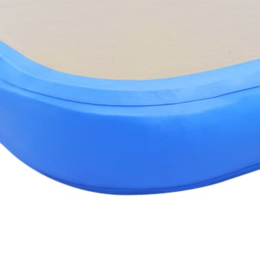 "vidaXL Inflatable Gymnastics Mat with Pump 157.4""x39.3""x3.9"" PVC Blue[10/14]"