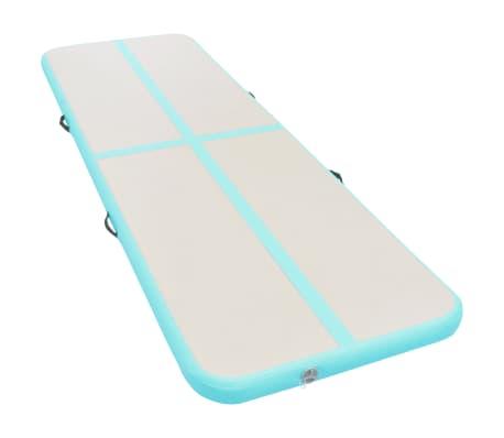 vidaXL Gymnastiekmat met pomp opblaasbaar 400x100x10 cm PVC groen[3/14]
