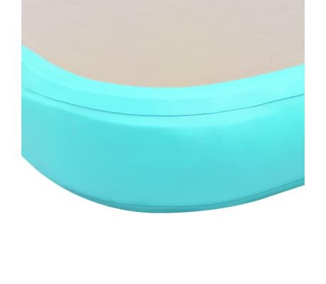 vidaXL Gymnastiekmat met pomp opblaasbaar 400x100x10 cm PVC groen[10/14]