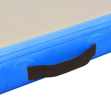 "vidaXL Inflatable Gymnastics Mat with Pump 196.8""x39.3""x3.9"" PVC Blue[9/14]"