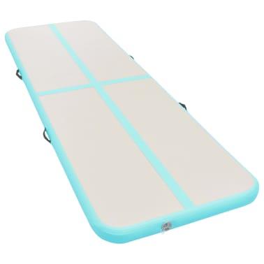 vidaXL Pripuč. gimnast. kilim. su pompa, žal. sp., 500x100x10cm, PVC[2/14]