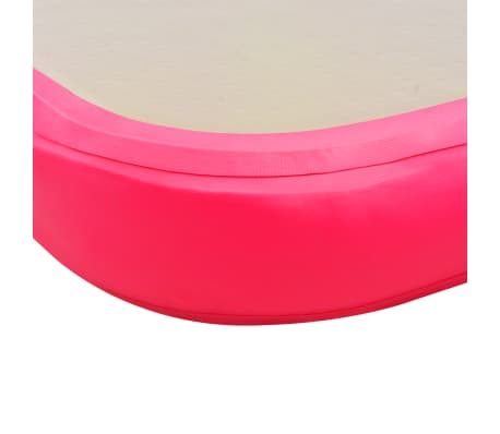 vidaXL Pripuč. gimnast. kilim. su pompa, rož. sp., 600x100x10cm, PVC[10/14]