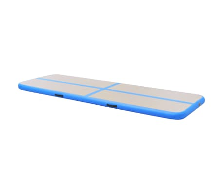 "vidaXL Inflatable Gymnastics Mat with Pump 236.2""x39.3""x3.9"" PVC Blue[4/14]"