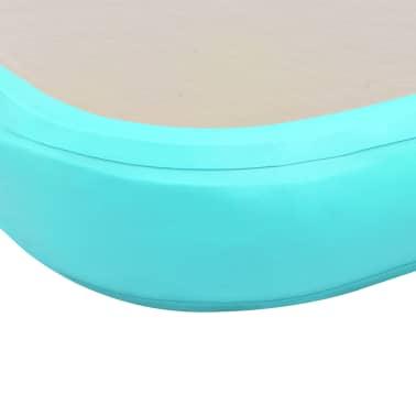 "vidaXL Inflatable Gymnastics Mat with Pump 236.2""x39.3""x3.9"" PVC Green[10/14]"