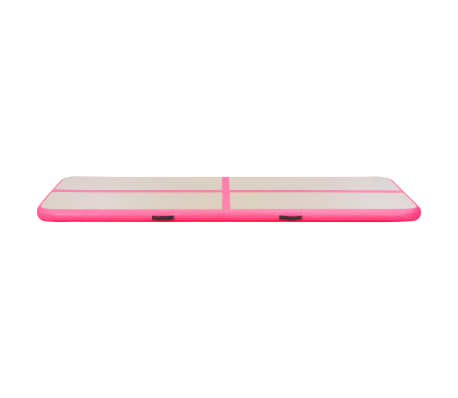 vidaXL Saltea gimnastică gonflabilă cu pompă roz 700x100x10cm PVC[6/14]