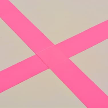 vidaXL Saltea gimnastică gonflabilă cu pompă roz 700x100x10cm PVC[11/14]