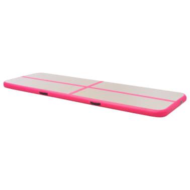 vidaXL Saltea gimnastică gonflabilă cu pompă roz 700x100x10cm PVC[4/14]