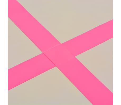 vidaXL Saltea gimnastică gonflabilă cu pompă roz 800x100x10cm PVC[11/14]