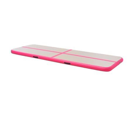 vidaXL Saltea gimnastică gonflabilă cu pompă roz 800x100x10cm PVC[4/14]