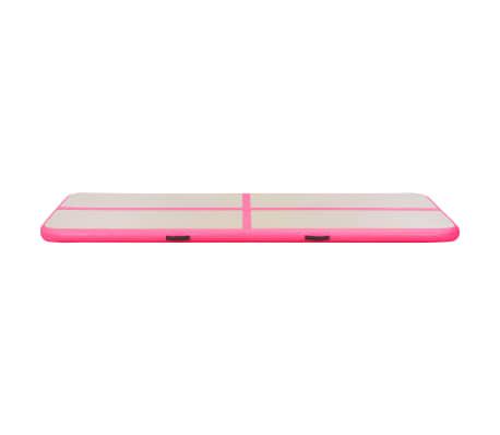 vidaXL Saltea gimnastică gonflabilă cu pompă roz 800x100x10cm PVC[6/14]